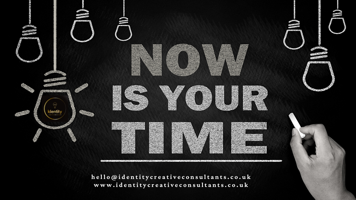 Now is your time image and logo